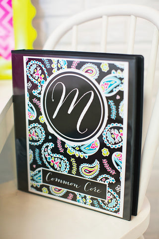 Tickle Me Pink Paisley Binder Covers {UPRINT}