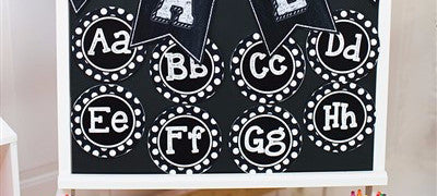 Chalkboard & Polka Dot Word Wall Labels
