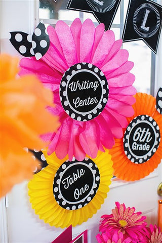 Chalkboard & Polka Dot Table/Center Signs