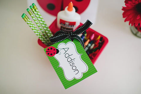 Lovely Ladybugs Multipurpose Labels {UPRINT}