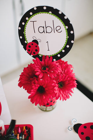 Lovely Ladybugs Table/Center Signs