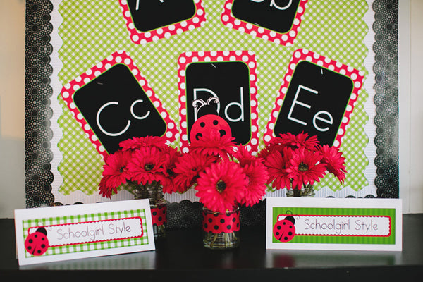 Lovely Ladybugs Print Alphabet Letters {UPRINT}