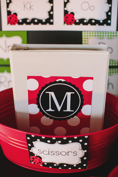 Lovely Ladybugs Monogram Prints {UPRINT}
