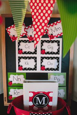 Lovely Ladybugs Word Wall Labels