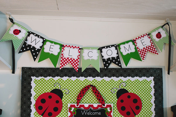 Lovely Ladybugs Welcome Banner {UPRINT}