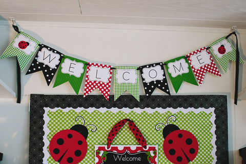 Lovely Ladybugs Welcome Banner