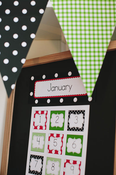 Lovely Ladybugs Calendar Numbers {UPRINT}
