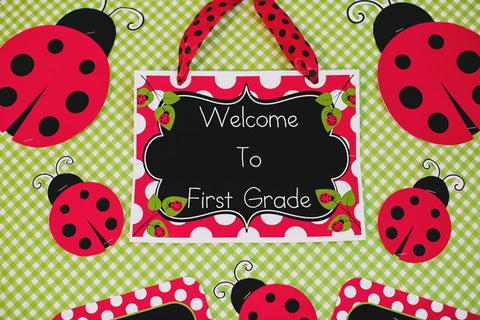 Lovely Ladybugs Welcome Sign {UPRINT}