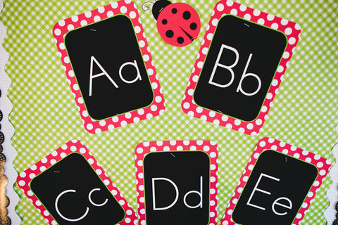 Lovely Ladybugs Print Alphabet Letters