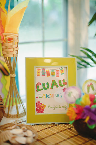 Luau Learning Inspirational Print