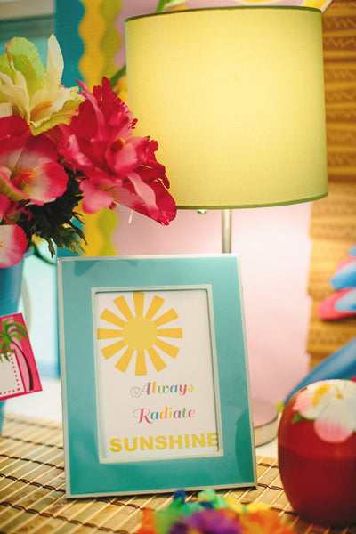 Always Radiate Sunshine Inspirational Print