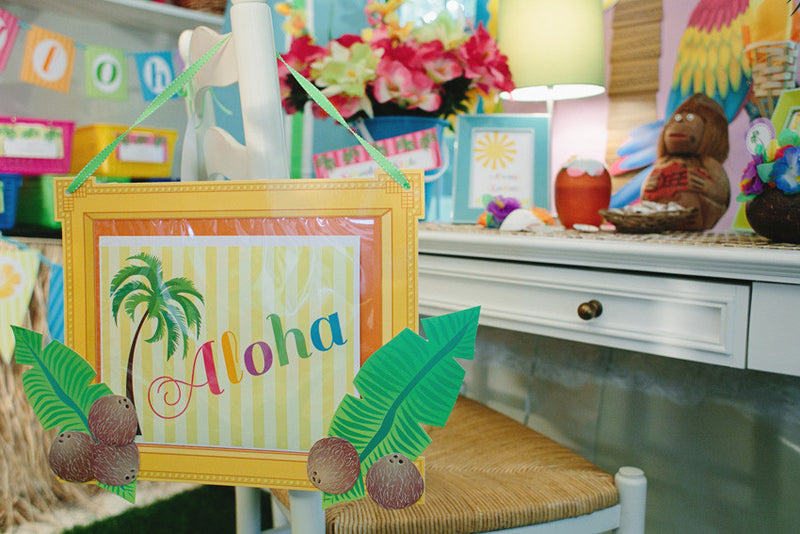 Luau Aloha Welcome Sign {UPRINT}