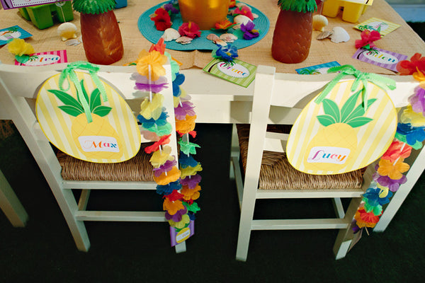 Luau Pineapple Chair/Door Signs