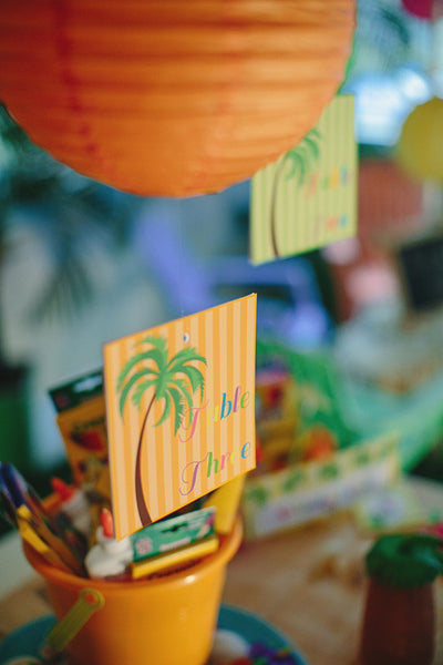 Luau Palm Tree Table Signs
