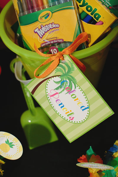 Luau Multipurpose Labels