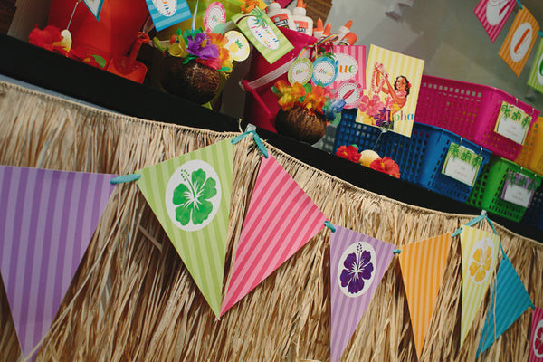 Luau Pennants {UPRINT}
