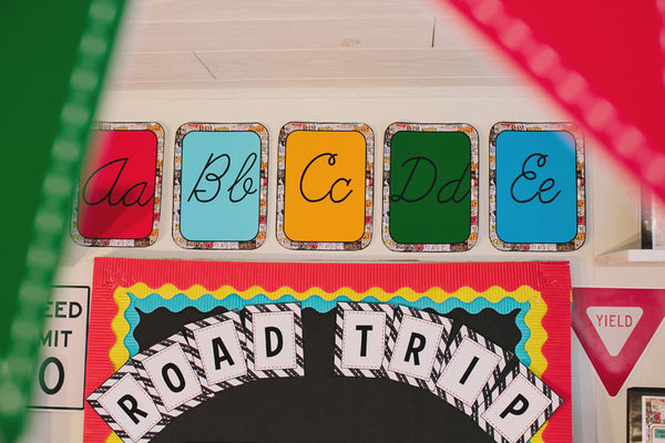 Road Trip Bulletin Board Letters