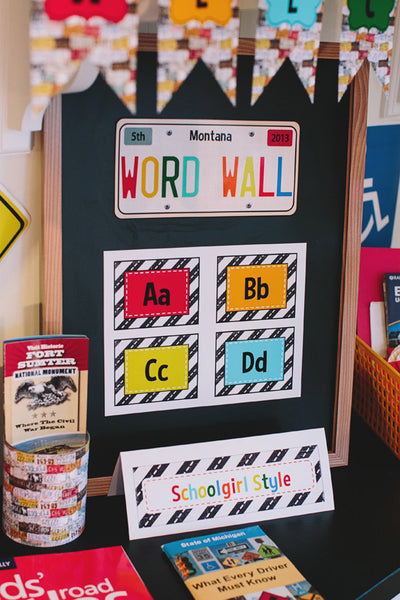 Road Trip Word Wall Labels