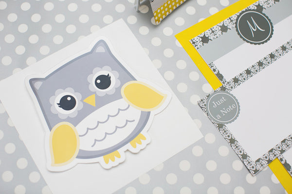 Gray Owl Cut Outs