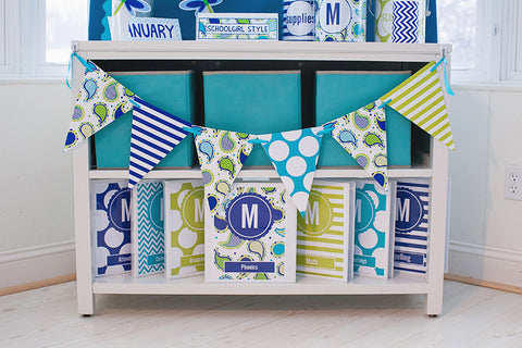 Paisley, Turquoise, Blue & Green Mini Pennants {UPRINT}