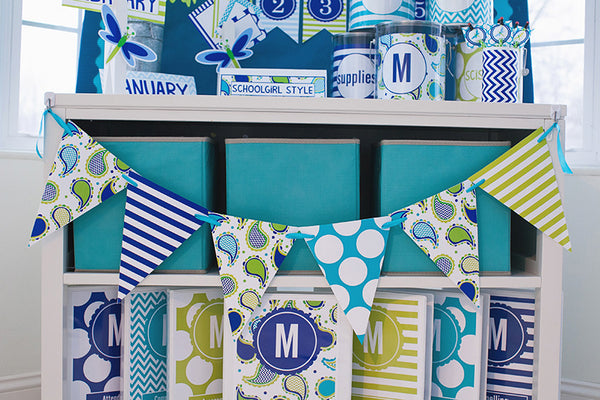 Turquoise Classroom Decor ~ Paisley turquoise blue green full collection