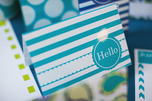 Paisley, Turquoise, Blue & Green Stationary Set {UPRINT}