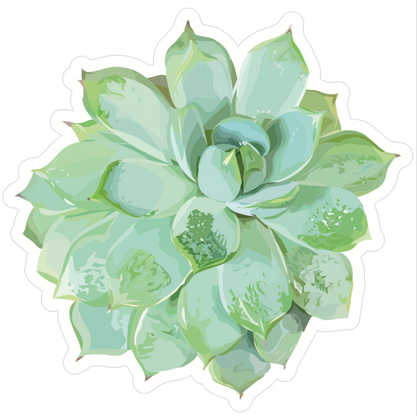 Simply Stylish (WATERCOLOR) Succulent Cut-Outs