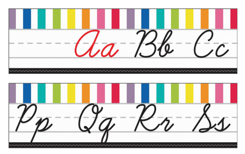 Just Teach - Alphabet Lines  - Cursive {U PRINT}