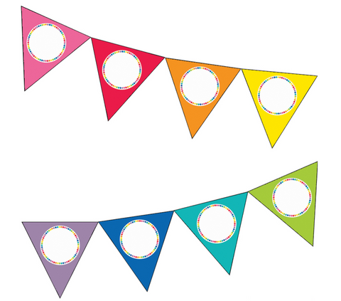 Just Teach - Rainbow EDITABLE Pennants {U PRINT}