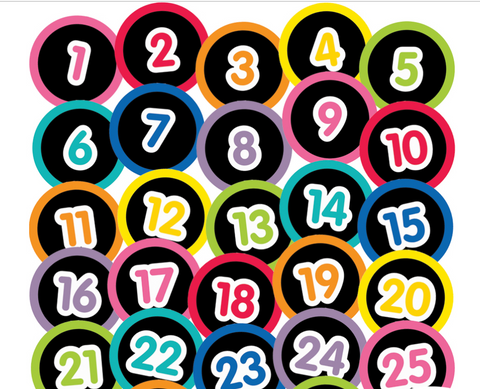 Just Teach - Number Circles 1-31 Black