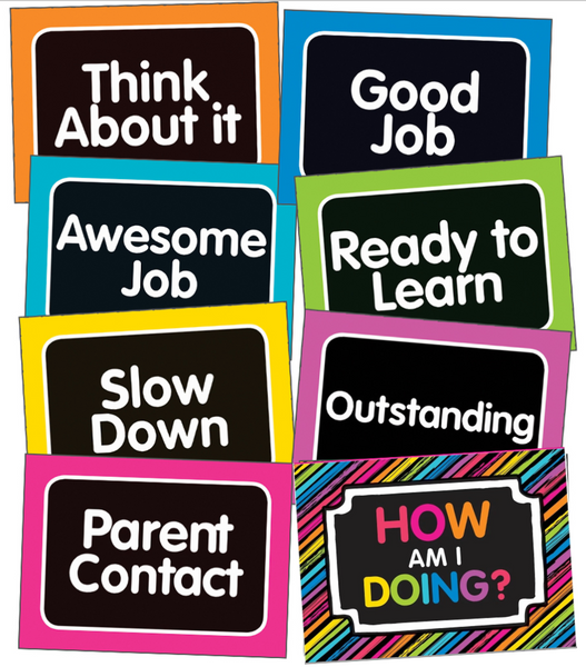 Just Teach - Behavior Clip Chart NEON {UPRINT}
