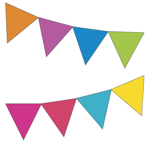Just Teach NEON - Rainbow Pennants {UPRINT}