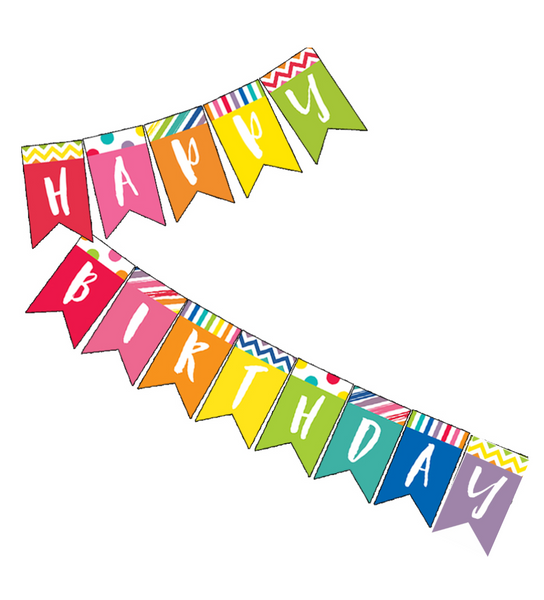 Just Teach - Happy Birthday Pennant Banner