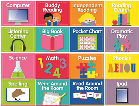 Just Teach - EDITABLE Center Cards {U PRINT}