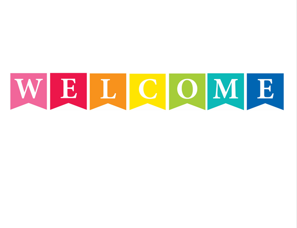 Just Teach - Welcome Banner {U PRINT}
