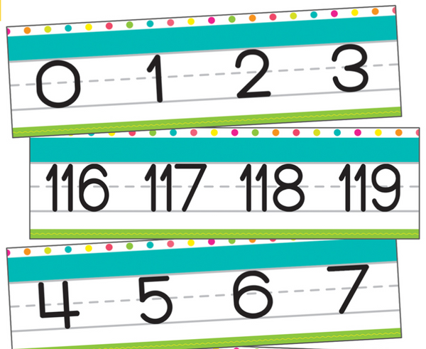 Simply Stylish Tropical Number Line {U PRINT}