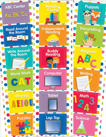 Just Teach Rainbow - EDITABLE Center Cards {U PRINT}