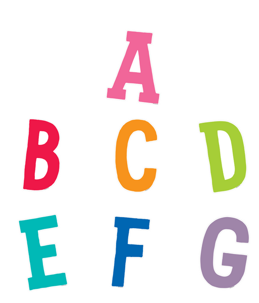 Bright and Brew-tiful Colorful Letters {U PRINT}