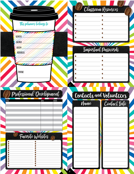 Bright and Brew-tiful - {DIGITAL PLANNER and ORGANIZER}