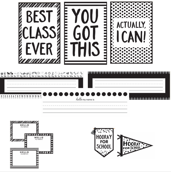 Just Teach Black and White FULL Collection {U PRINT}