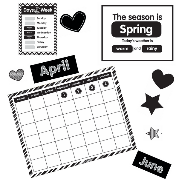 Just Teach Black and White Calendar {U PRINT}