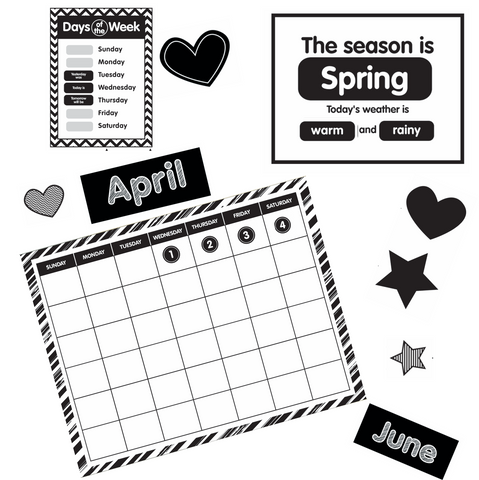 Just Teach Black and White Calendar - Home Print {U PRINT}