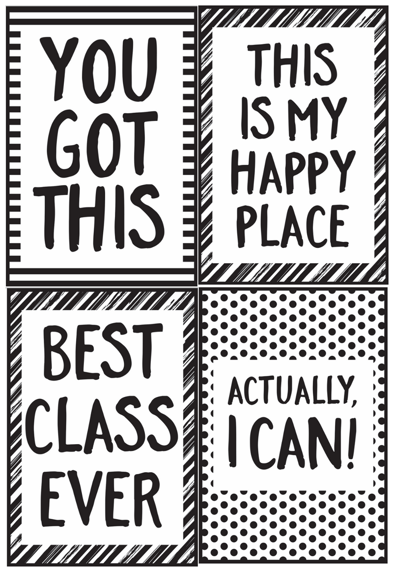 Schoolgirl Style - Just Teach Black and White Poster Set {U PRINT}