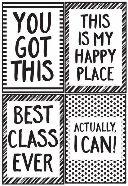 Just Teach Black and White Poster Set {U PRINT}