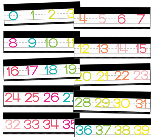 Just Teach Simply Stylish Tropical Manuscript Number Line {U PRINT}