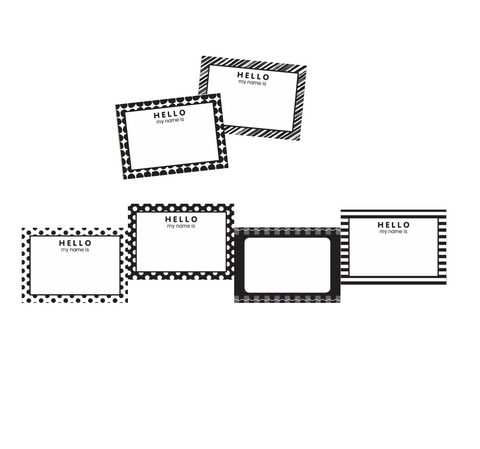 Just Teach Black and White  Name Tags {U PRINT}