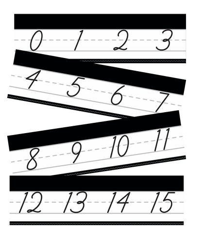 Just Teach Black and White - Cursive Number Line 0-120 {U PRINT}
