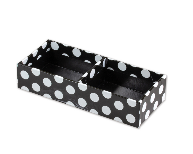 Schoolgirl Style - Little Black Desk Set Black and White Small Accessory Tray