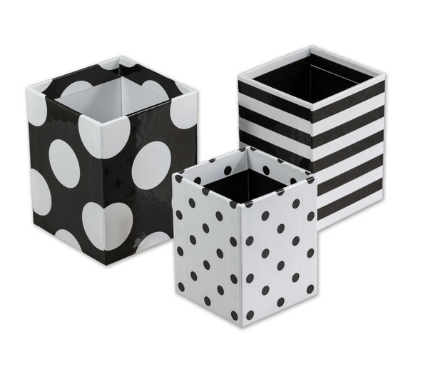Black and White Pencil Cups