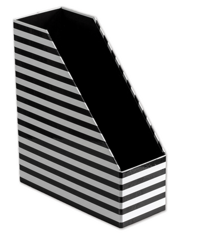 Black and White Magazine File Holder